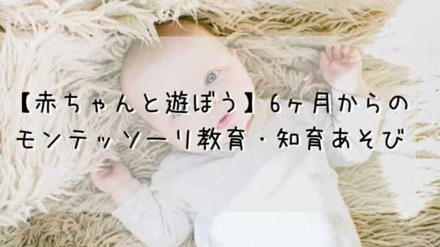 【赤ちゃんと遊ぼう】6ヶ月からの モンテッソーリ教育・知育あそび