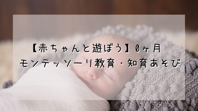 【赤ちゃんと遊ぼう】0ヶ月〜 モンテッソーリ教育・知育あそび